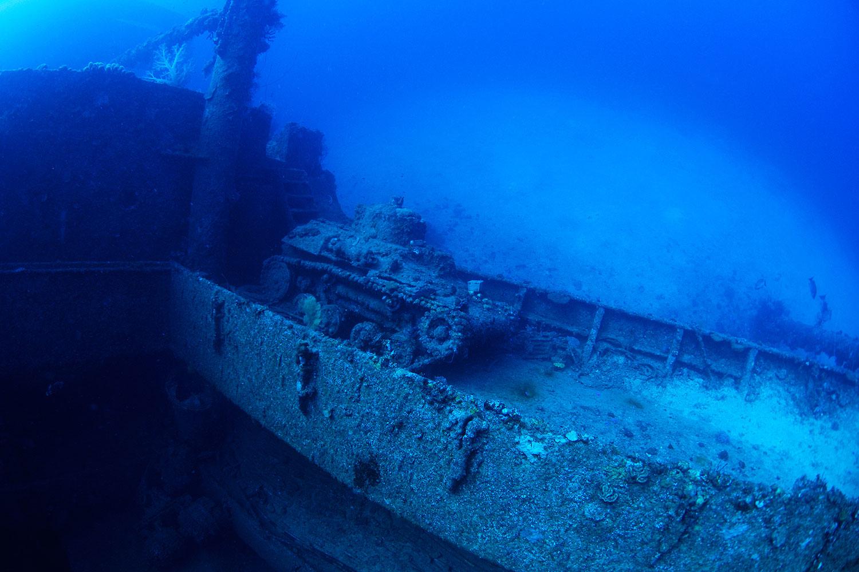 Truk Lagoon - Panzer auf dem Wrack