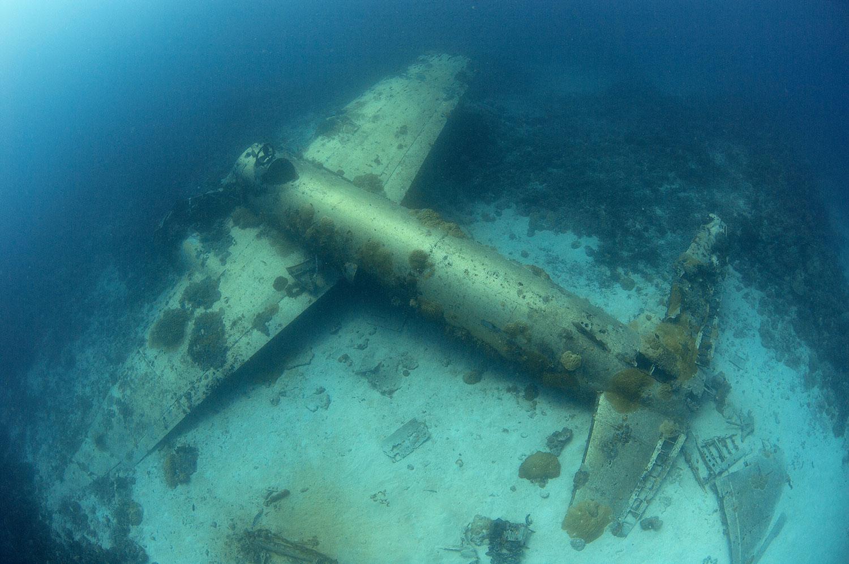 Truk Lagoon - Flugzeug Wrack