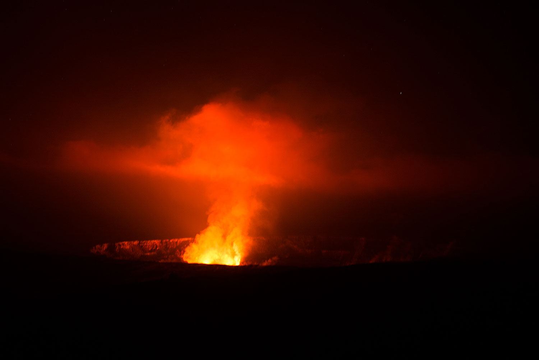 Hawaii - Vulkan Eruption - Luftaufnahme