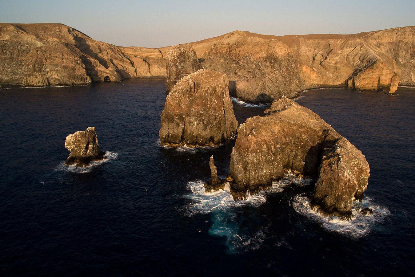 Luftaufnahme der Felsen von Socorro